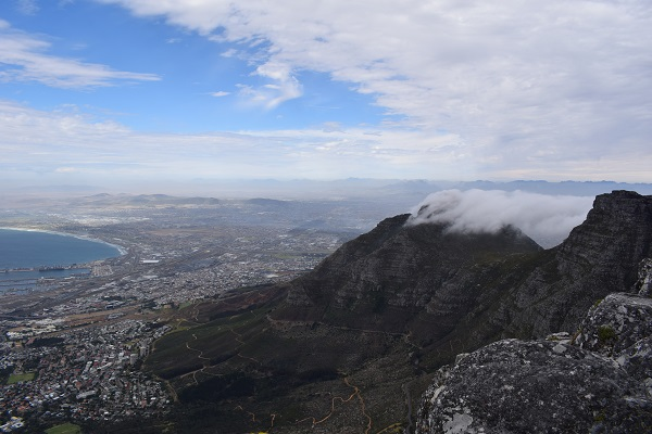 View of Cape Town from Top of Table Mountain
