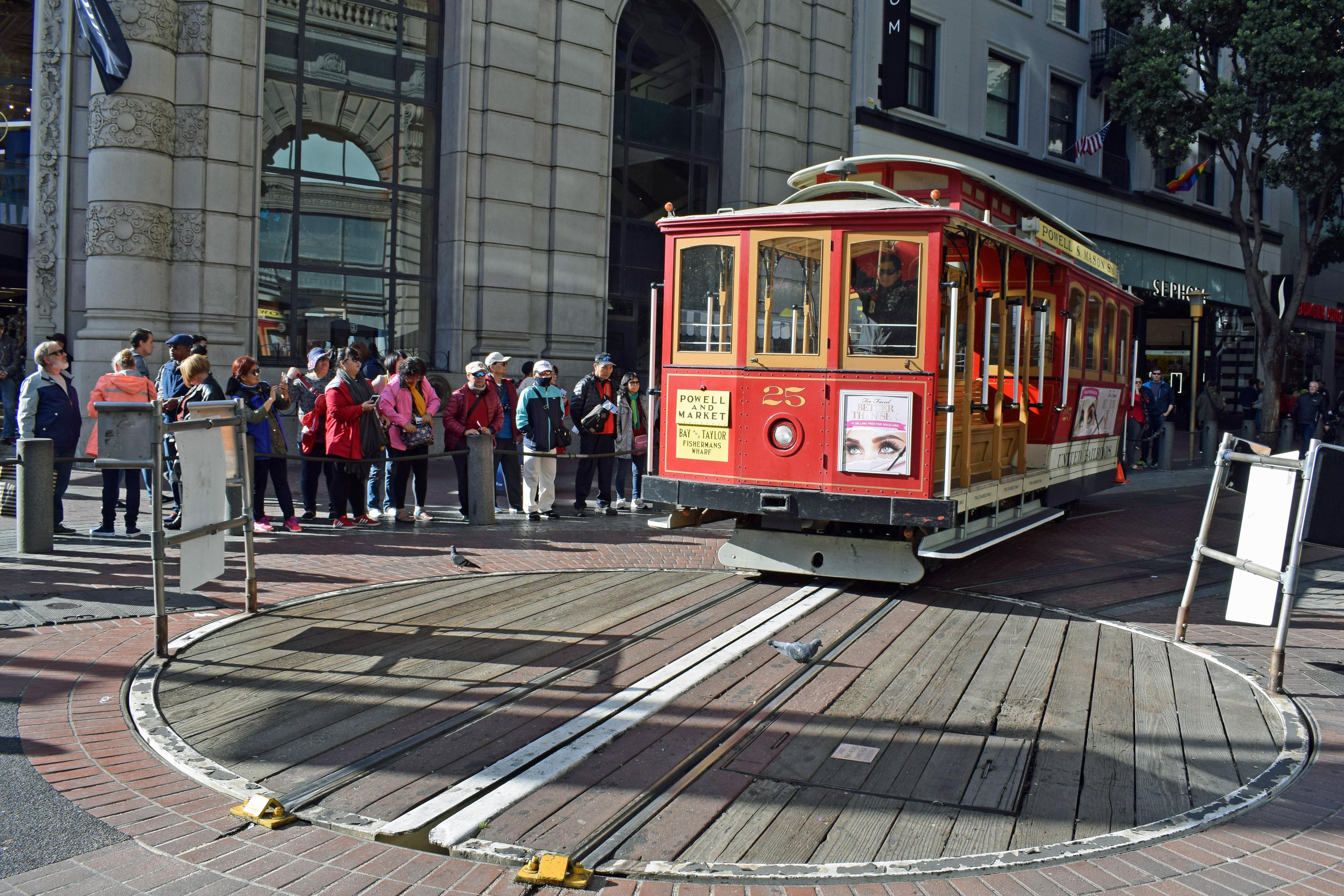 Powell and Market Street Cable Car San Francisco California USA