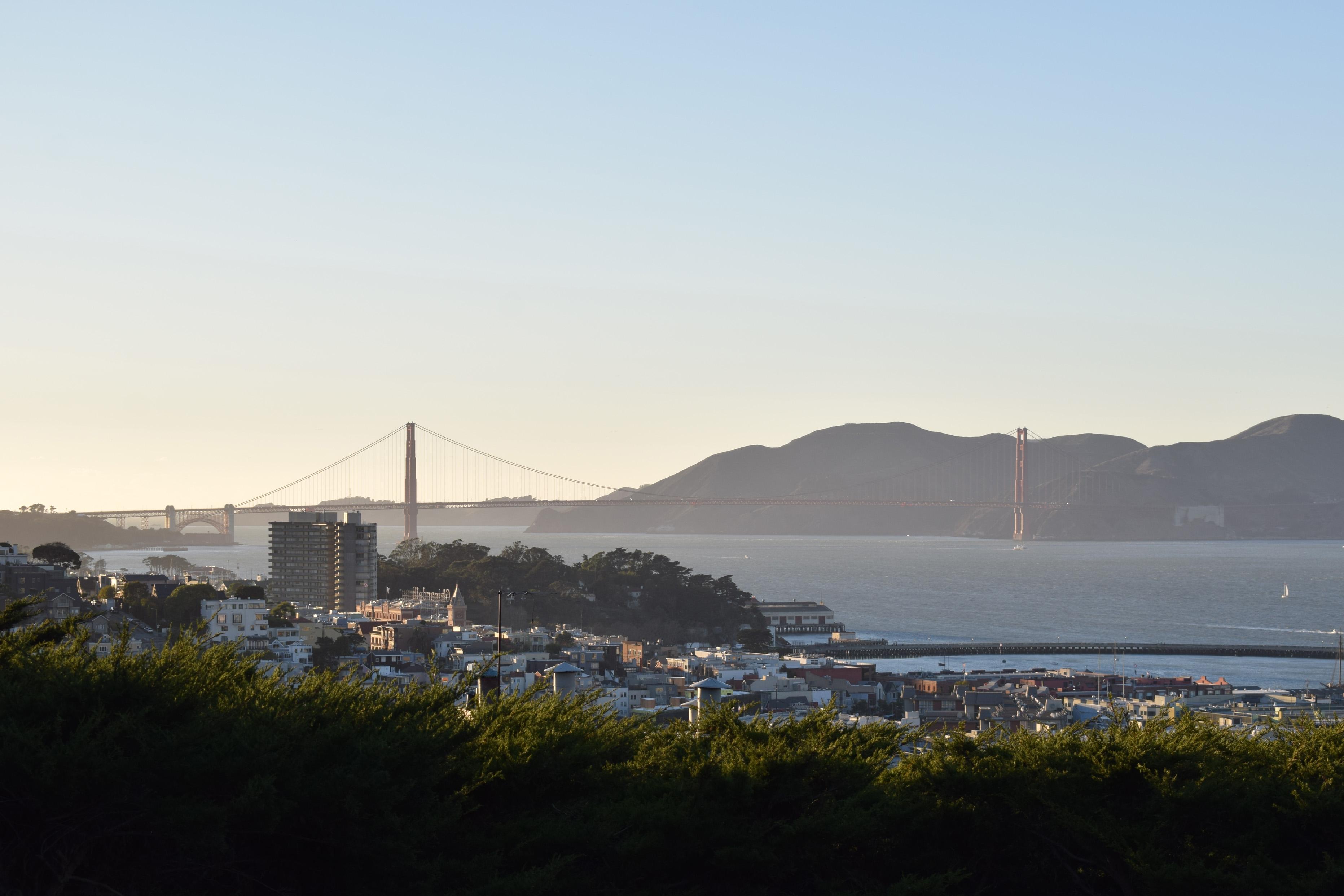 Golden Gate Bridge at Sunset San Francisco California
