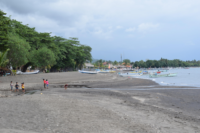 Children Playing on Lovina Beach in Northern Bali