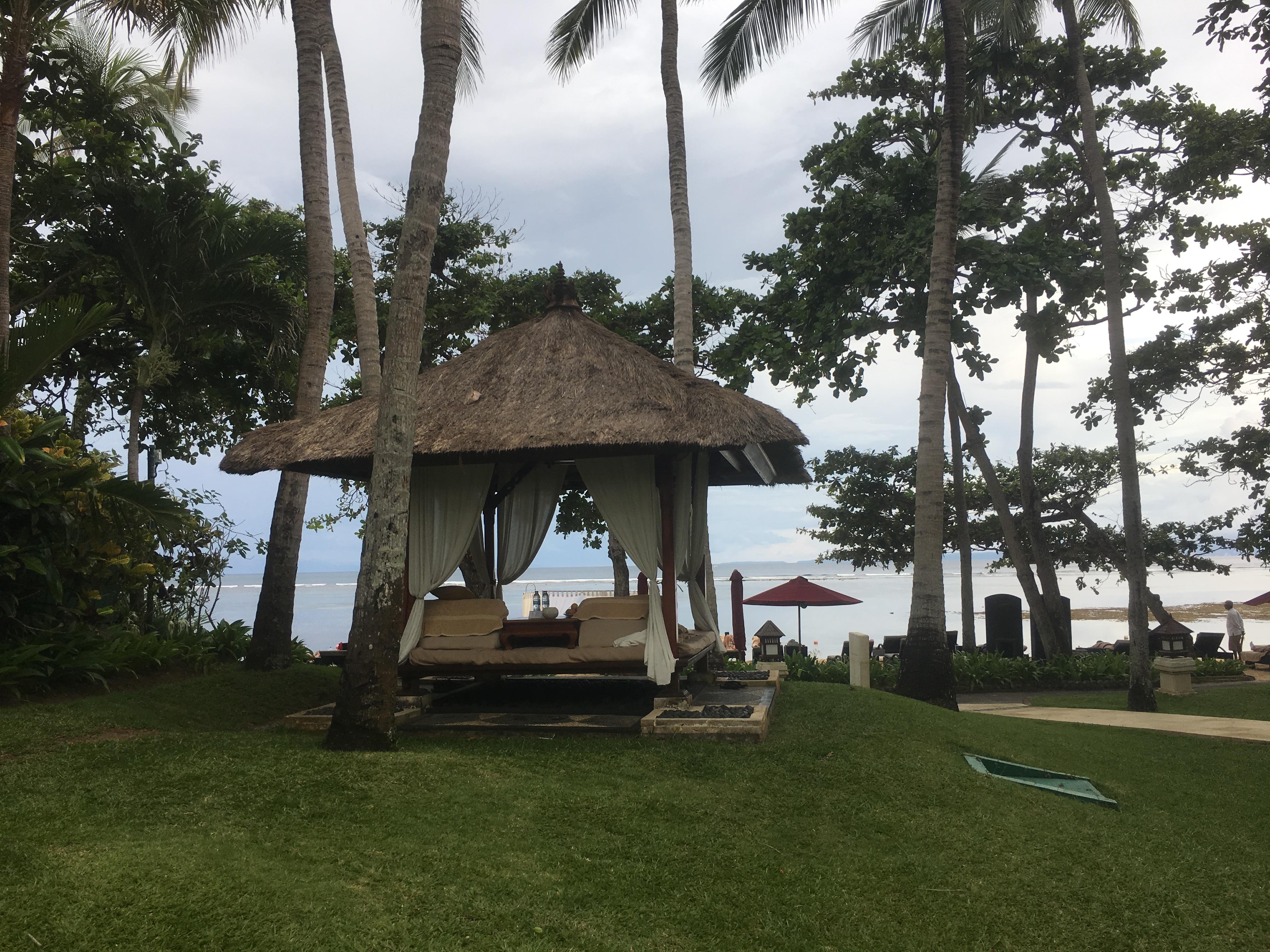 Beach Cabana at The Laguna Luxury Collection Resort in Nusa Dua Bali Indonesia