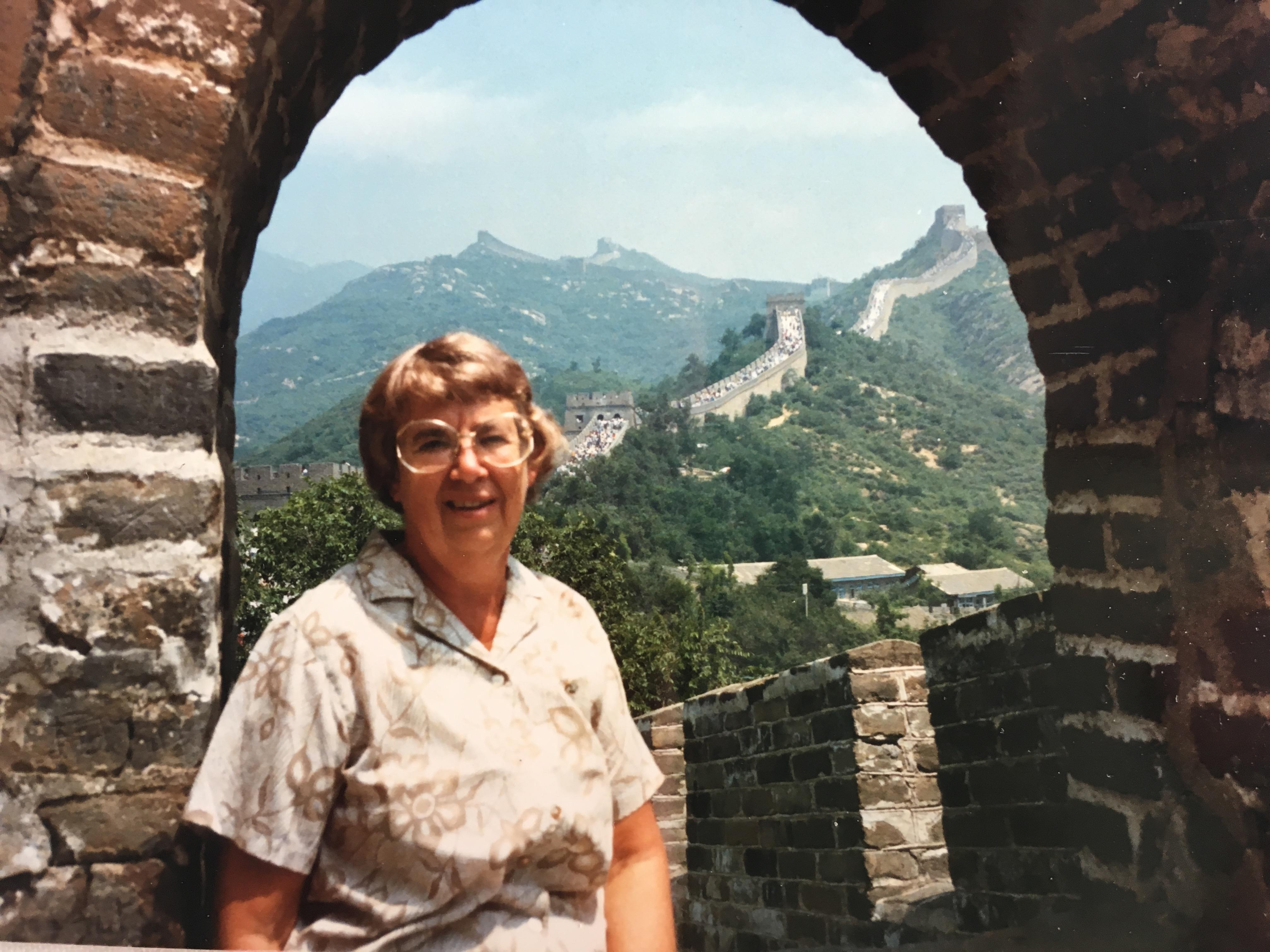 Grandma at Great Wall of China