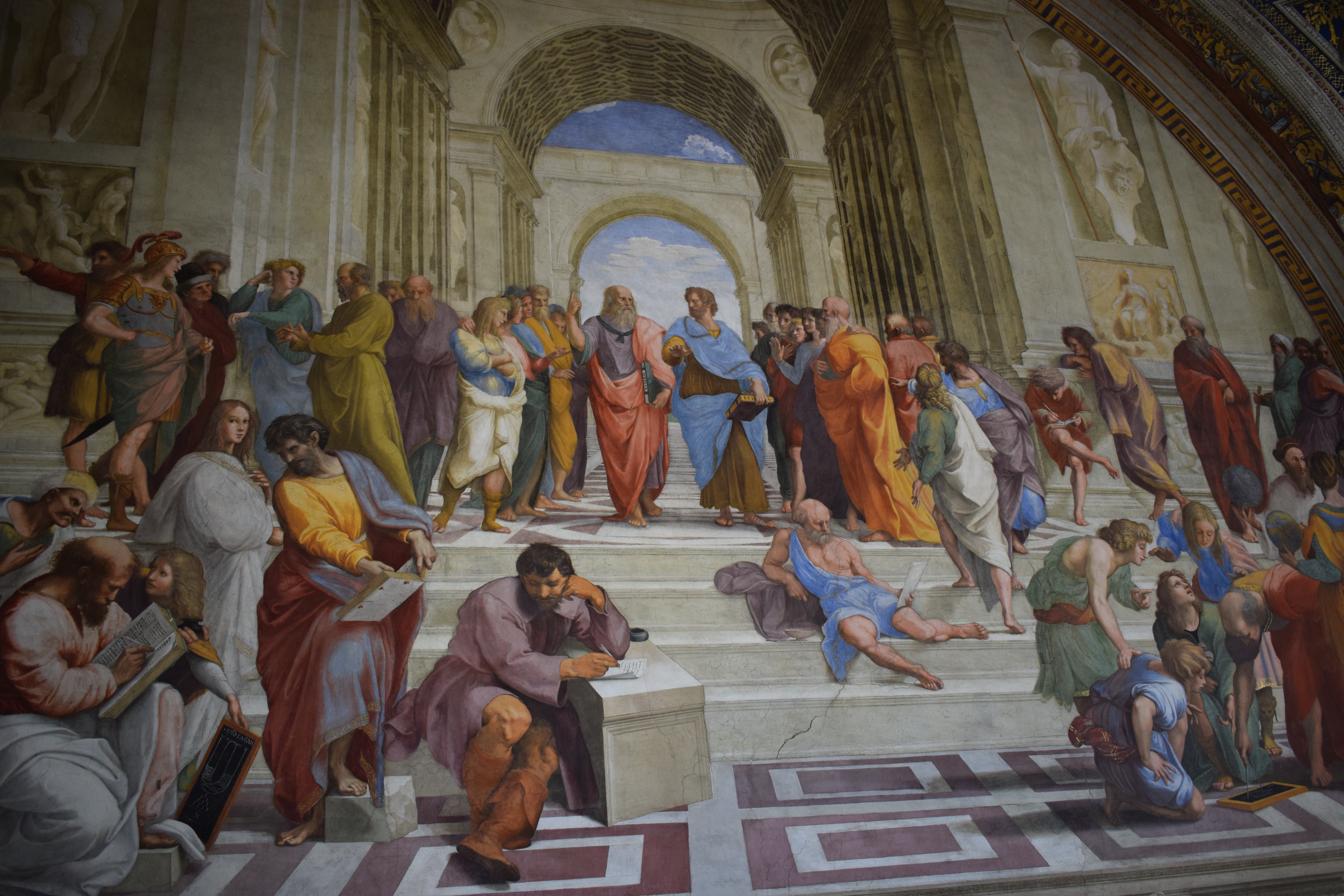 The School of Athens Painting by Raphael in the Vatican Rome Italy