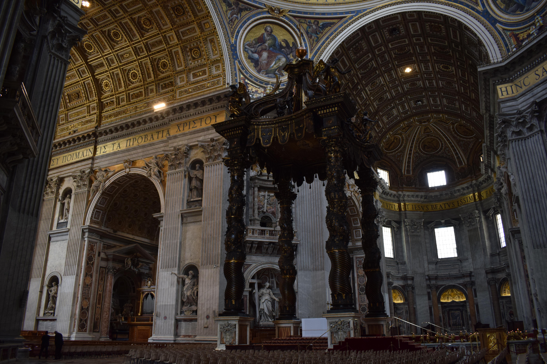 Main Altar inside St. Peter's Basilica Rome Italy