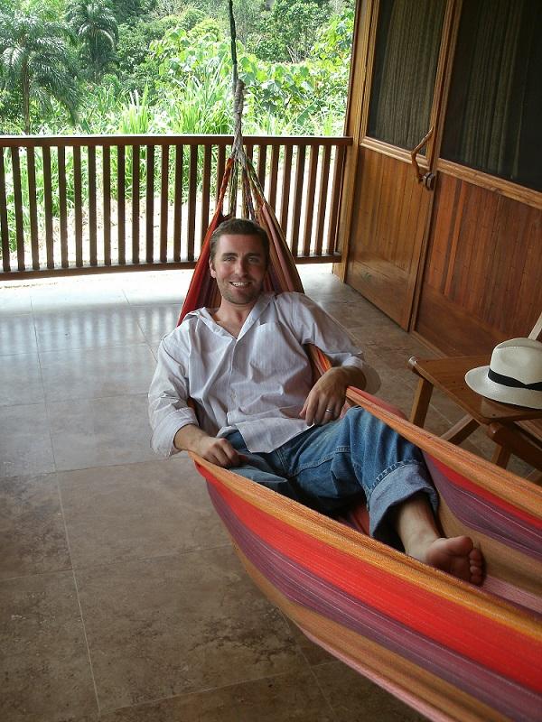 Man Relaxing in Hammock in Ecuador Amazon