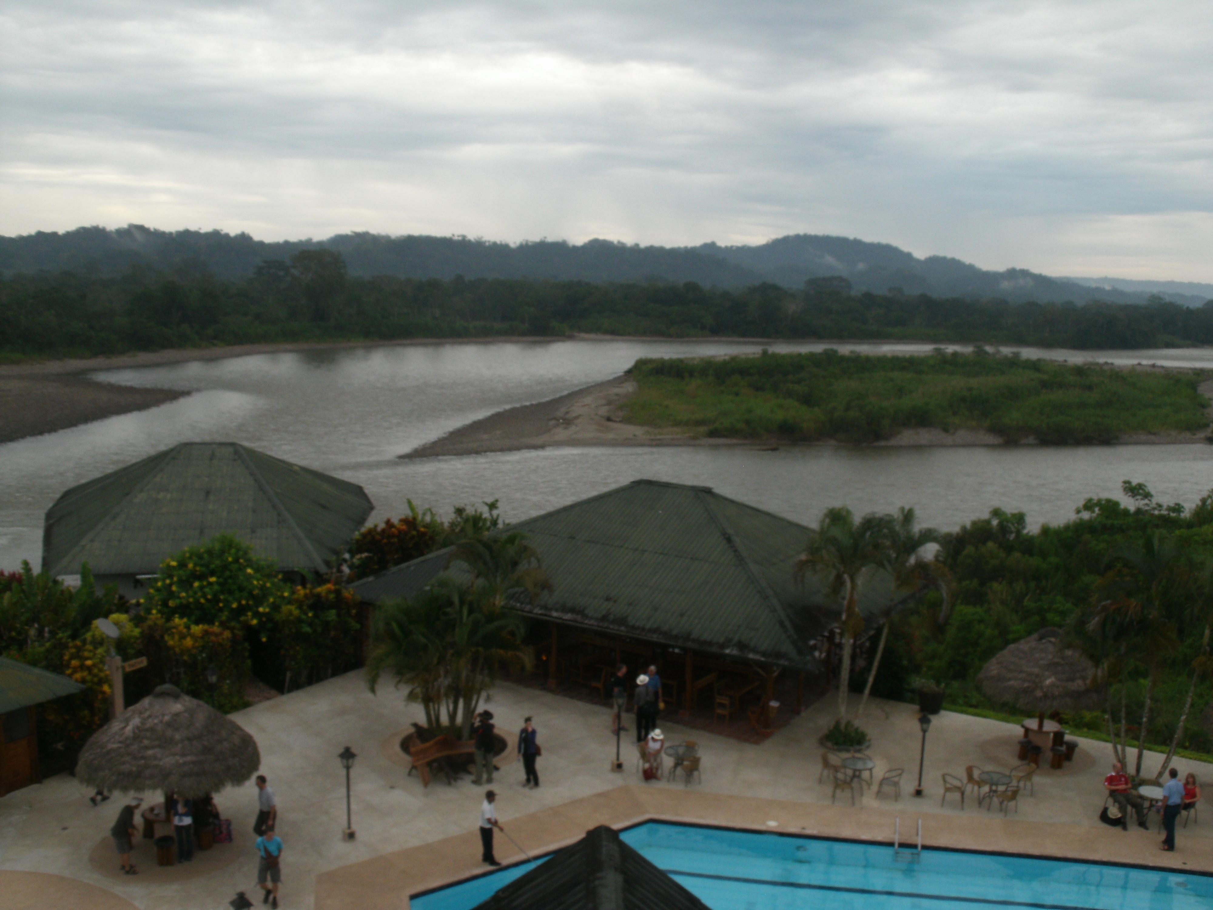 View of Napo River from Casa del Suizo Ecuador Amazon Rainforest