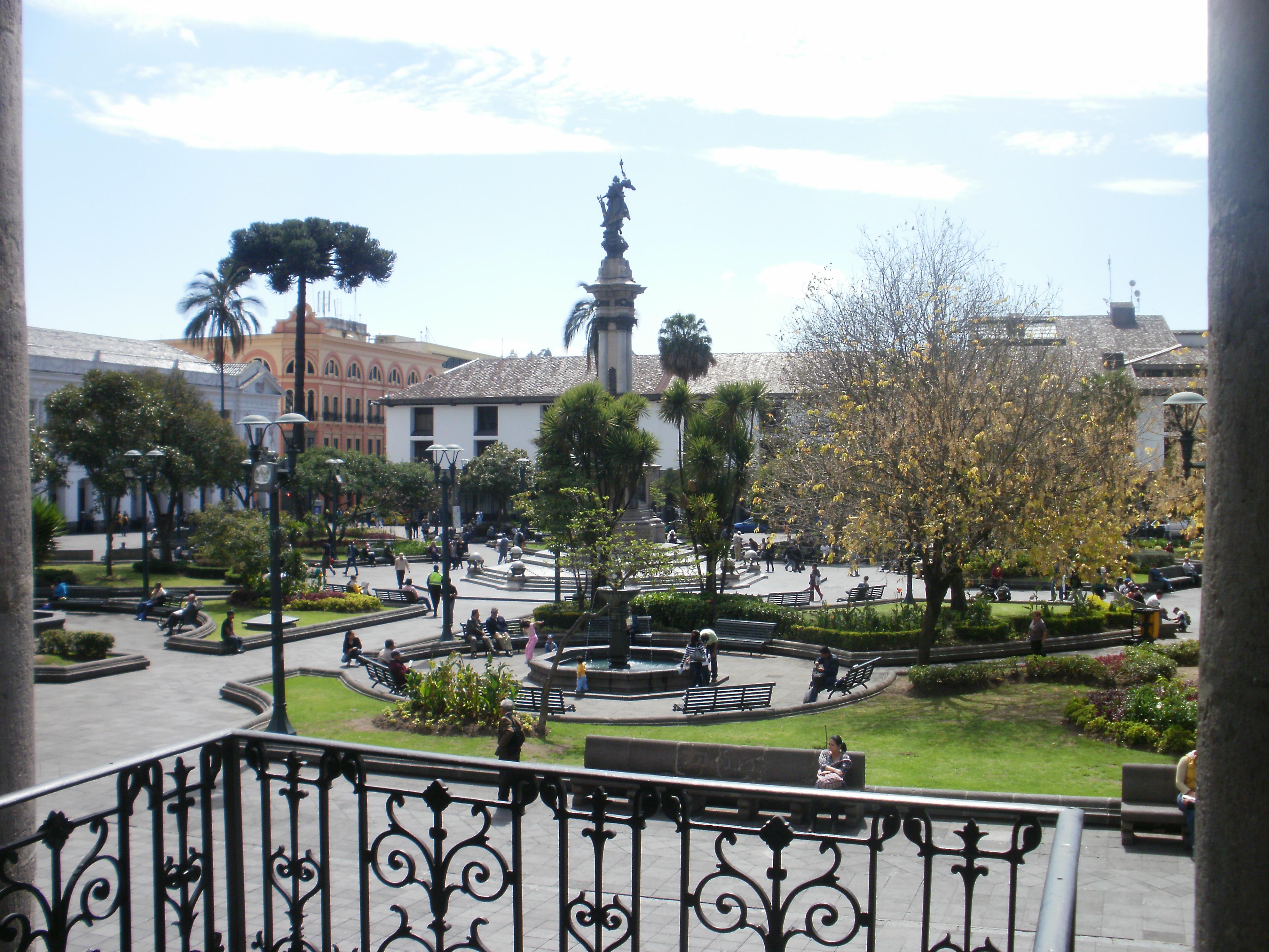 Plaza de la Independencia in Quito Ecuador