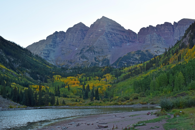 Yellow Fall Colors at Maroon Bells Colorado