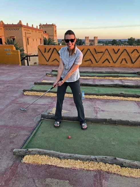 Mini Golf in the Sahara
