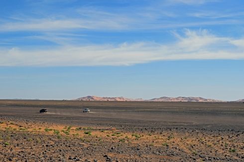 Driving in the Sahara Desert