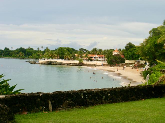 Caribbean Beach at Store Bay in Tobago