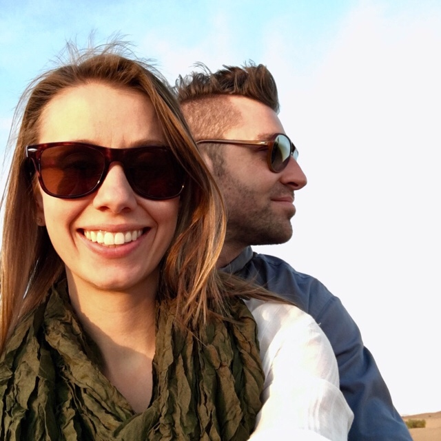 Beautiful Couple in Sahara Desert, Morocco