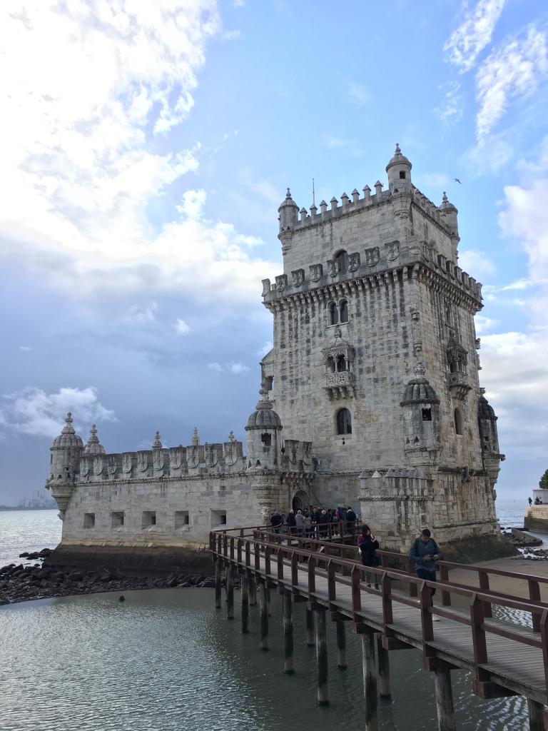 Belem Tower on Tagus River in Belem Portugal