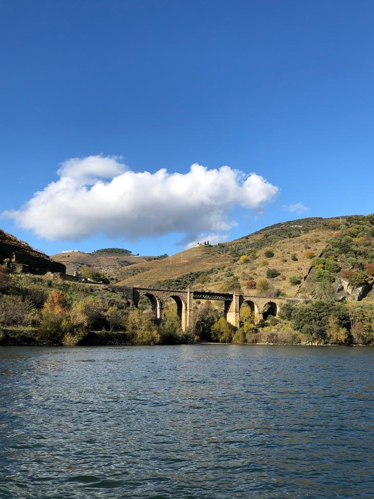 Stone Bridge View from Boat Ride on Douro River