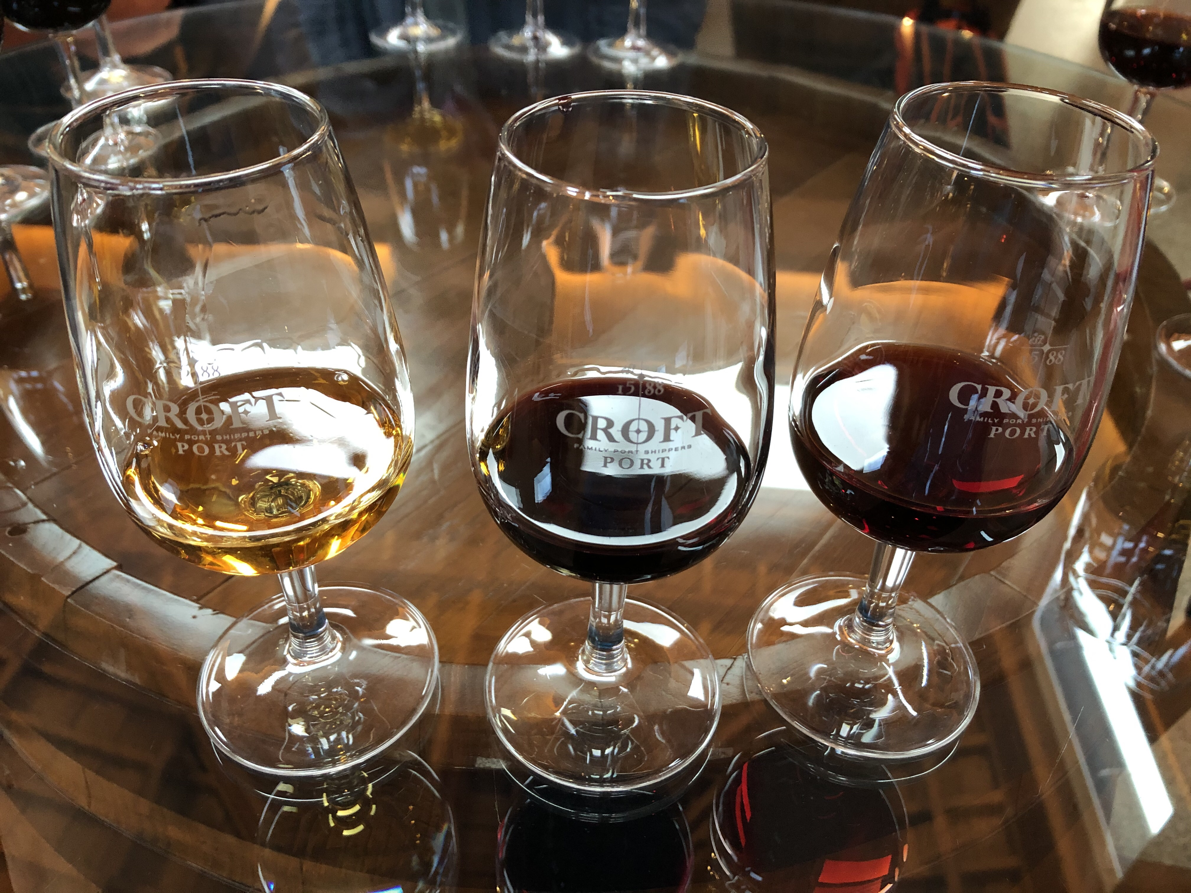 Croft Port Samples at Wine Tasting in Douro Valley