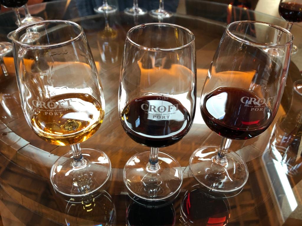 Port Wine Tasting Samples at Croft Vineyard in Douro Valley Portugal