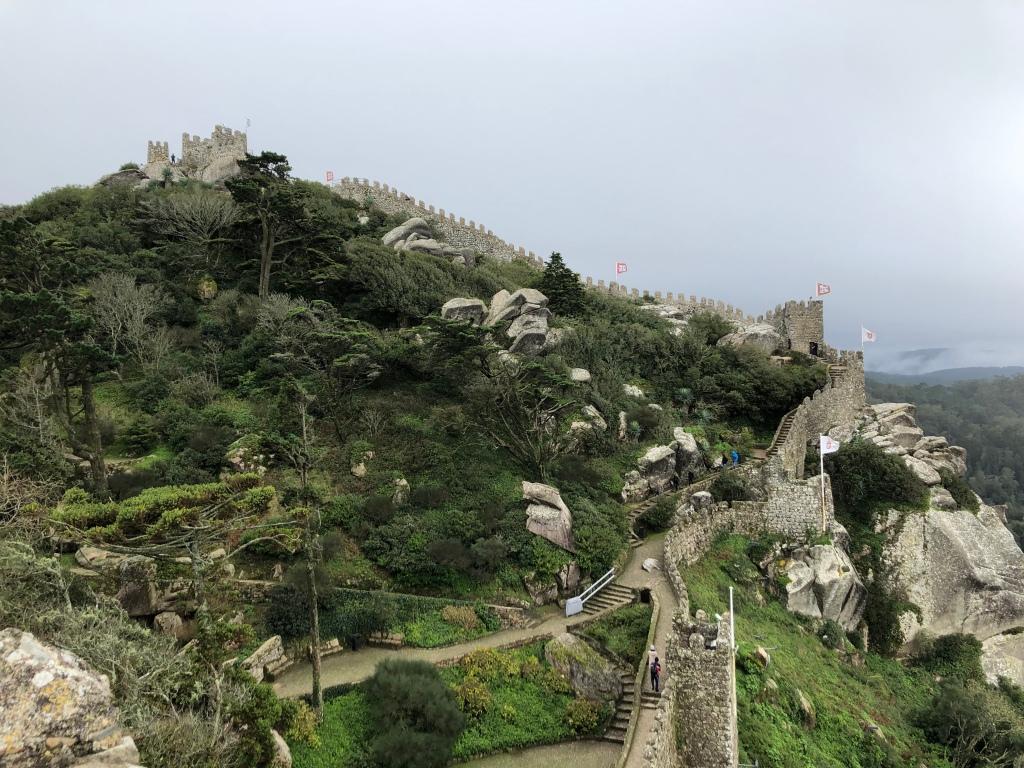 Moorish Castle Hilltop Overlooking Sintra Portugal