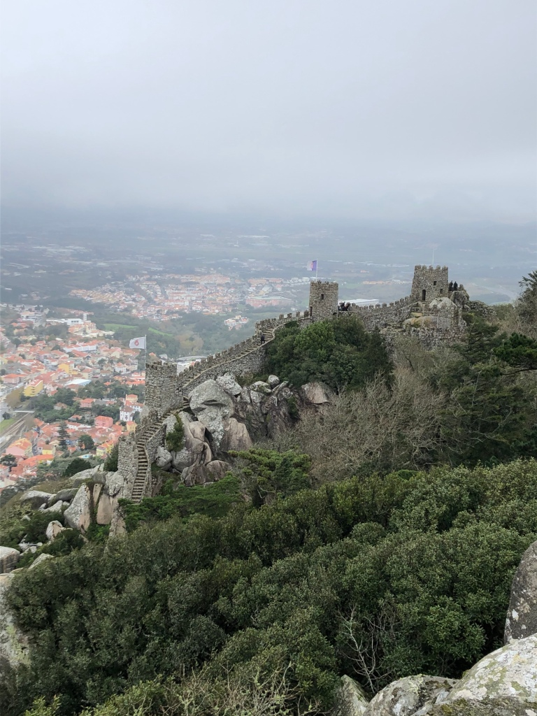 Moorish Castle with View of Sintra Portugal