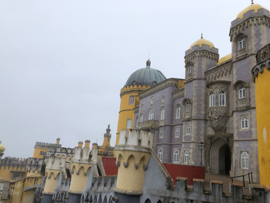 Colorful Exterior of Pena Palace in Sintra Portugal