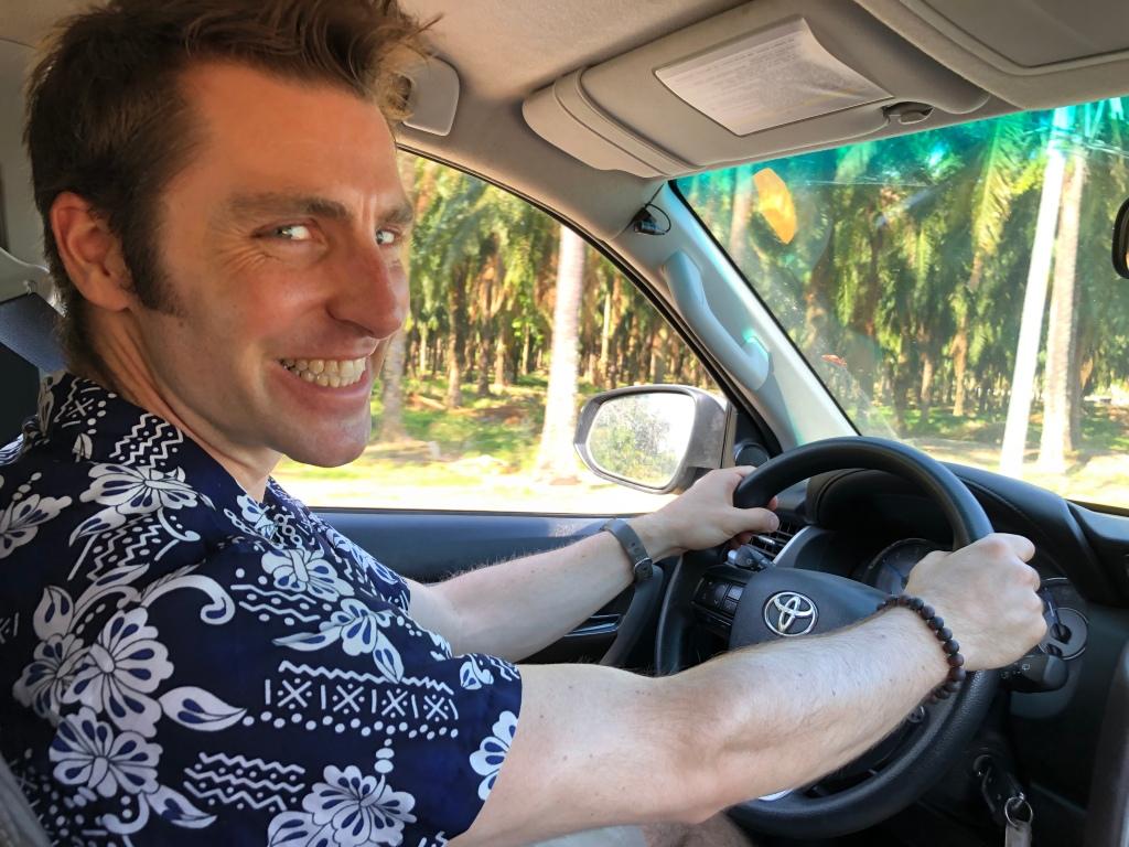 Man driving Toyota Fortuna in Costa Rica