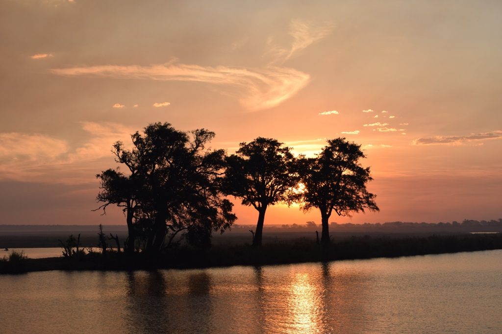 Sunset over Chobe River in Botswana