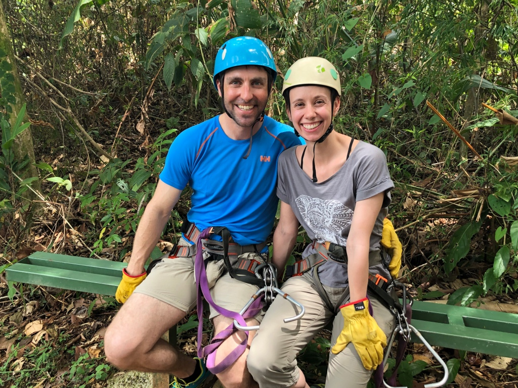 Zip Lining in Manuel Antonio